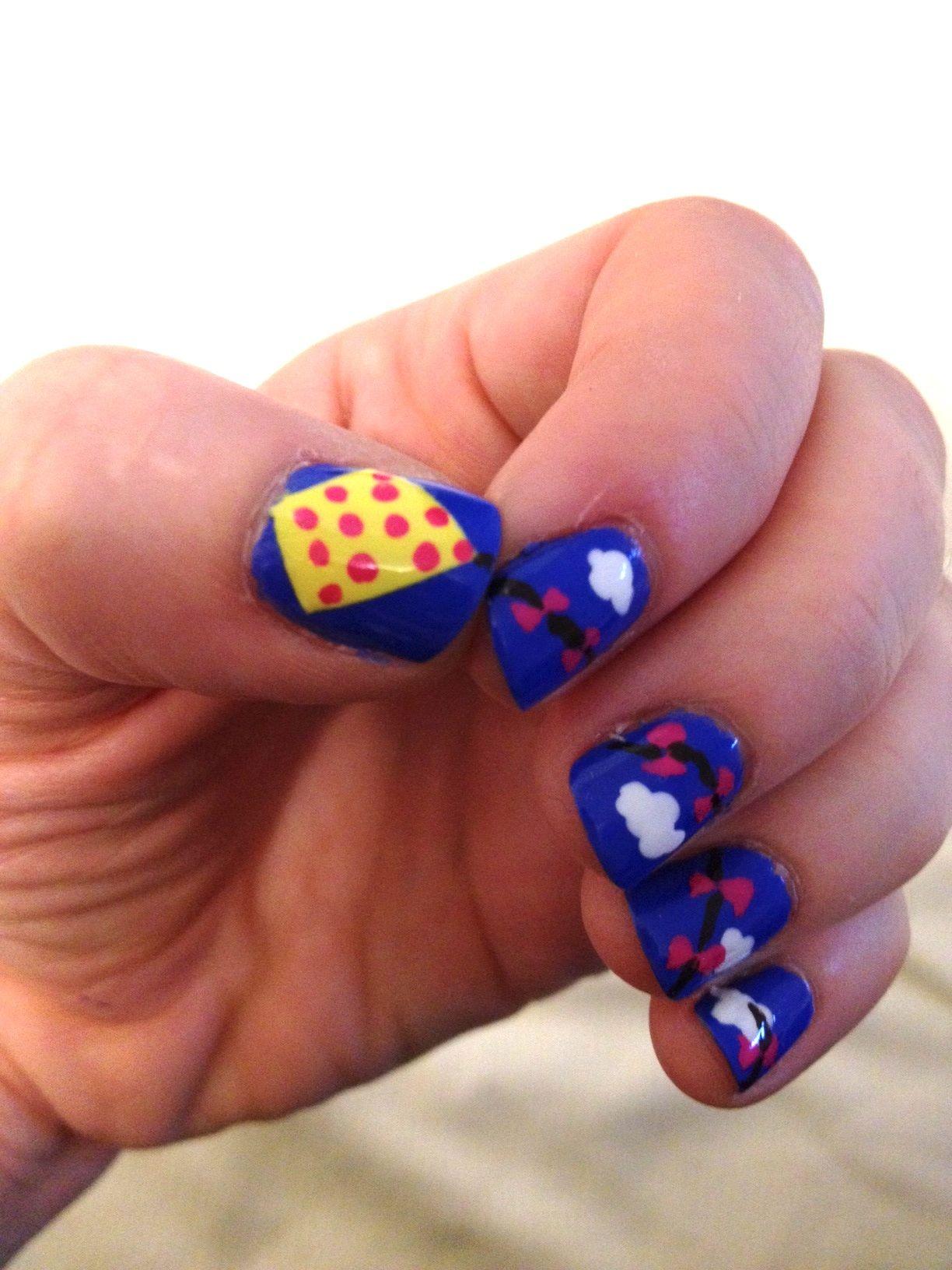 Kite nails! | Don\'t bite your NAILS | Pinterest | Kites and Nail stuff