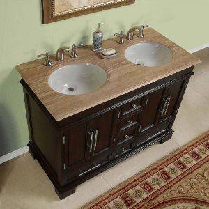 Sally 48 Double Sink Bathroom Vanity Cabinet Vieux Meubles
