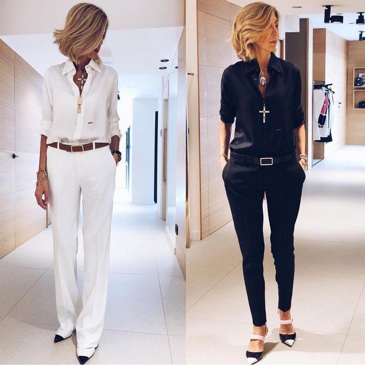 "Photo of Best__outfits auf Instagram: ""Weiß oder Schwarz? @susirejano ?via @be__classy__ ?☑️. .… """
