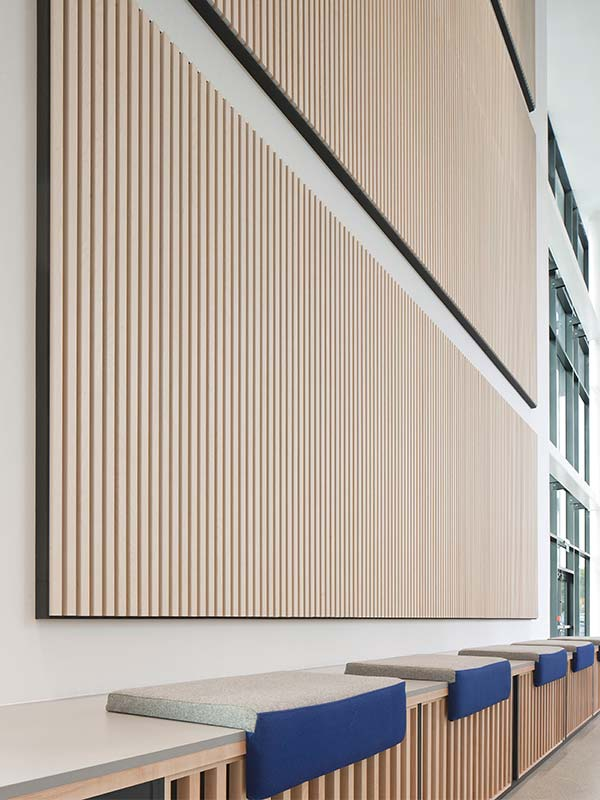 decorative acoustic panels at lanarkshire campus on acoustic wall panels id=23367