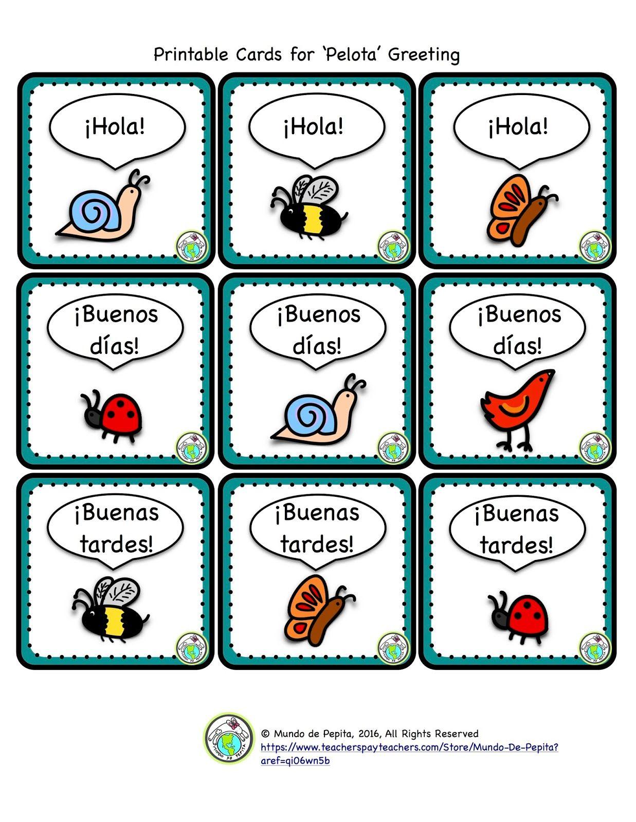 Greeting games   Kindergarten Spanish   Pinterest   Elementary ...