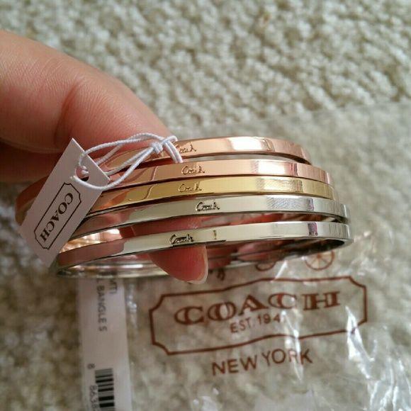 e94b2143c Spotted while shopping on Poshmark: NWT Coach bracelet bangle set!  #poshmark #fashion #shopping #style #Coach #Jewelry