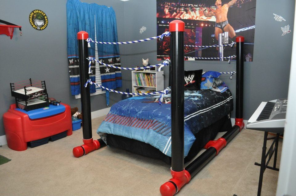 wrestling ring bed made out of pvc pipe jackson 39 s room