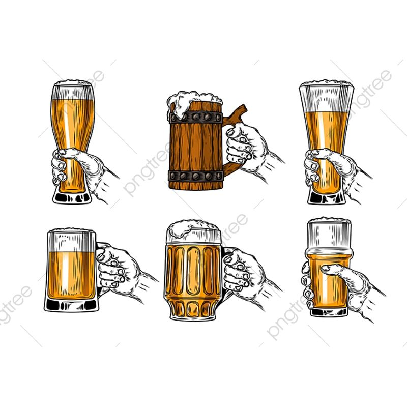 Set Of Vector Icons Beer Glasses Beer Glass Isolated Png And Vector With Transparent Background For Free Download Beer Illustration Beer Vector Beer Icon