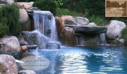 wwwsummersetgardens A beautiful swimming pool waterfall