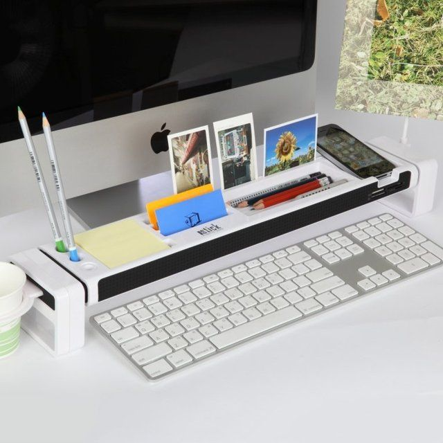 Get the desk more organized and safely put all of your required stuff in a neat place. This multi-functioned desktop organizer firstly works as a card reader with three USB ports and additionally it can neatly hold the coffee mug, pens, smartphone, photos, business cards and memo notepads. It's lighter and smaller that means you can place it on any short space.