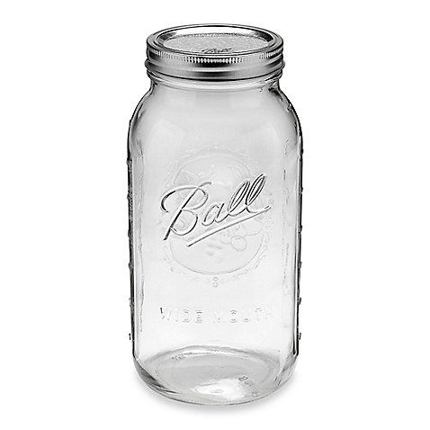 Ball® Half Gallon Wide Mouth Jars (Set of 6) - $15.99 -- SO much cuter than traditional food storage canisters for dry goods.