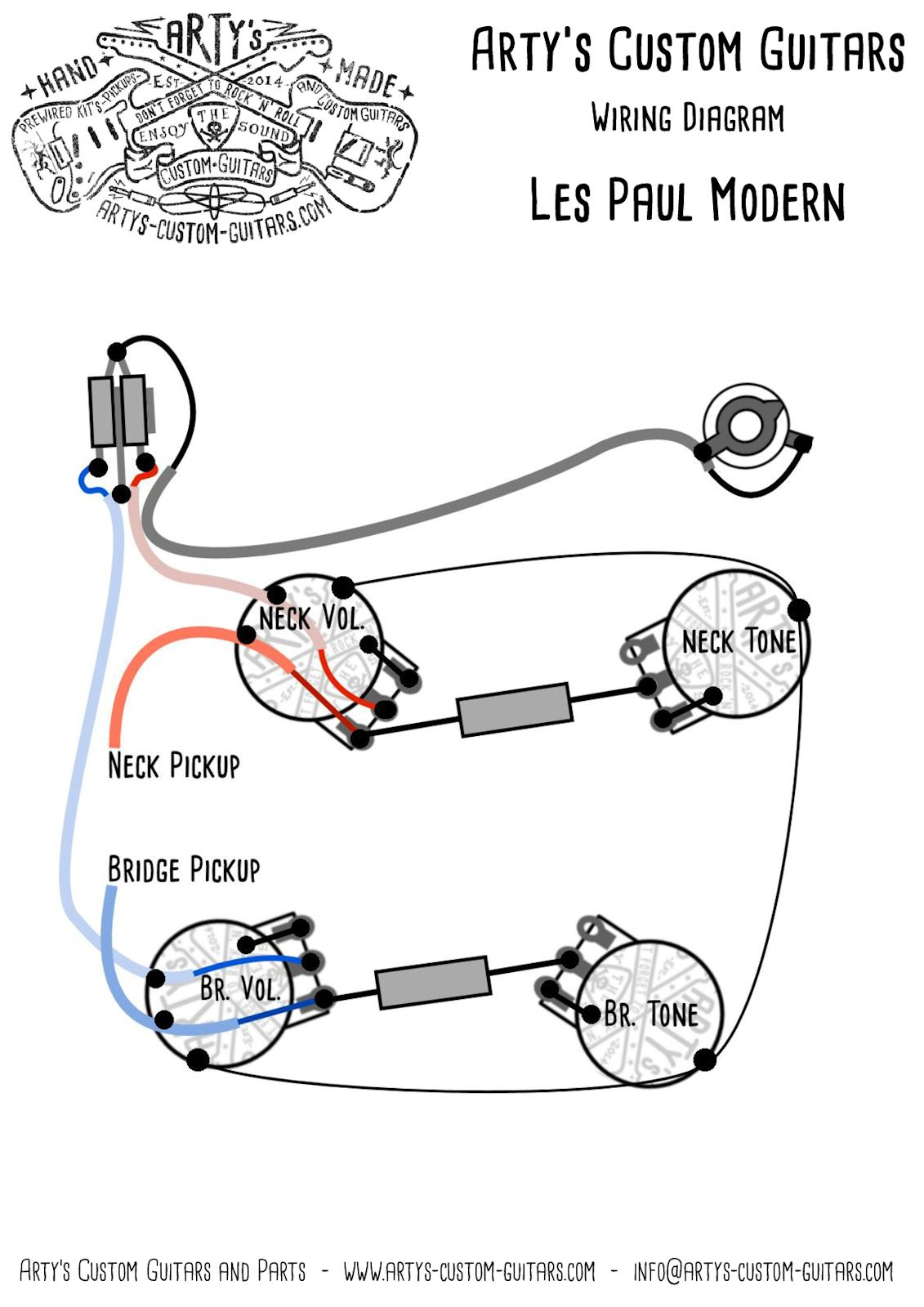 Arty S Custom Guitars Wiring Diagram Plan Les Paul