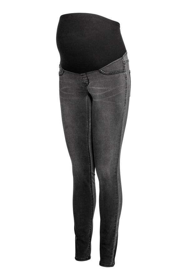 c5c49d29469c H&M MAMA Super Skinny Jeans - Dark gray denim - Women   Products ...