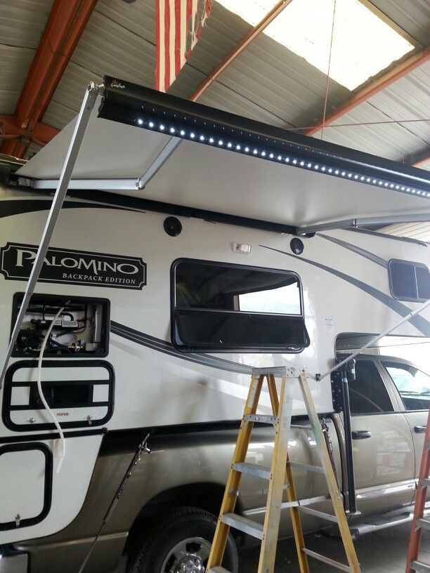 New Carefree Of Colorado Box Awning And Led Light Kit Led Light Kits Led Lights Rv Accessories