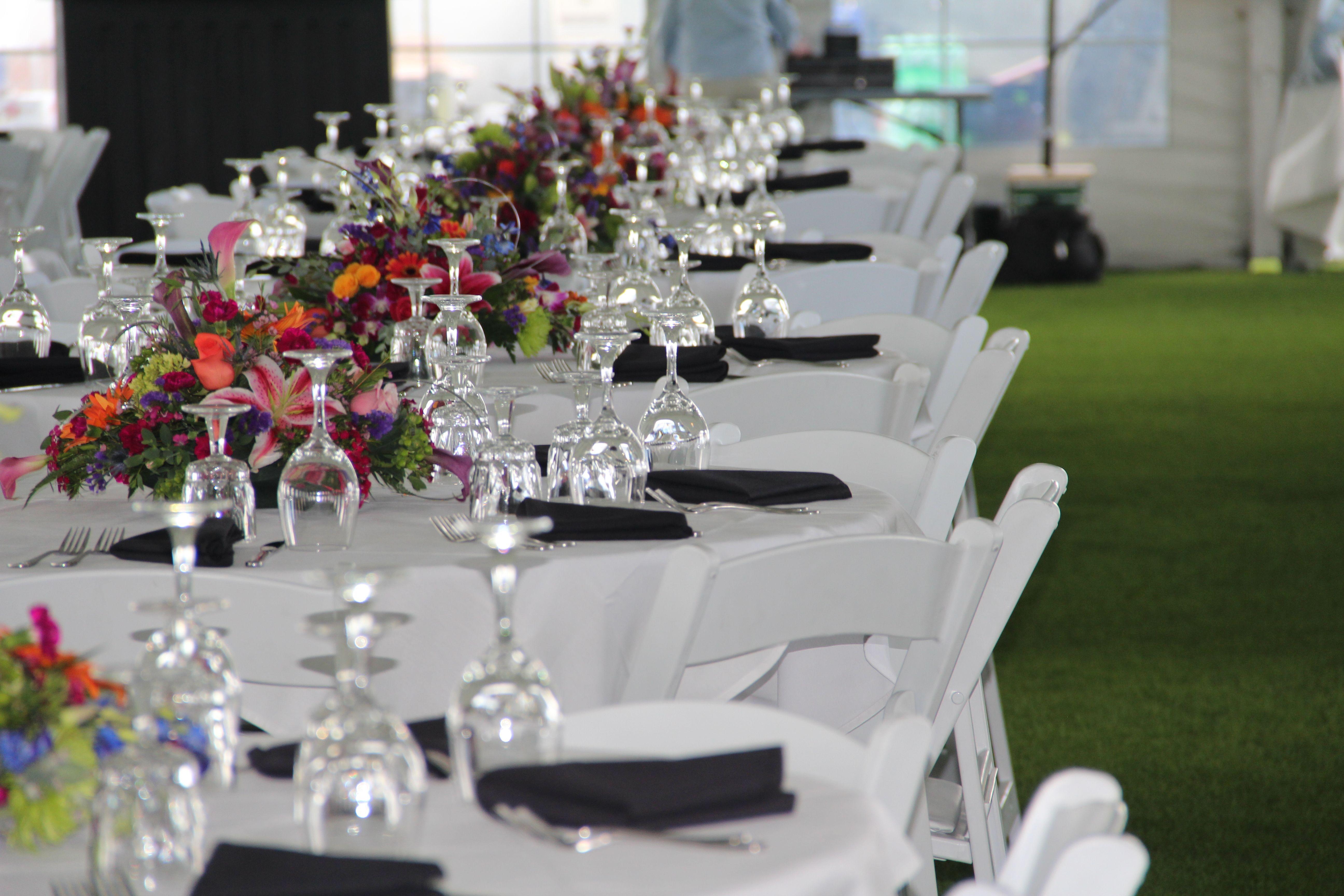 Beautiful event set up at Three Crowns Golf Club in Casper