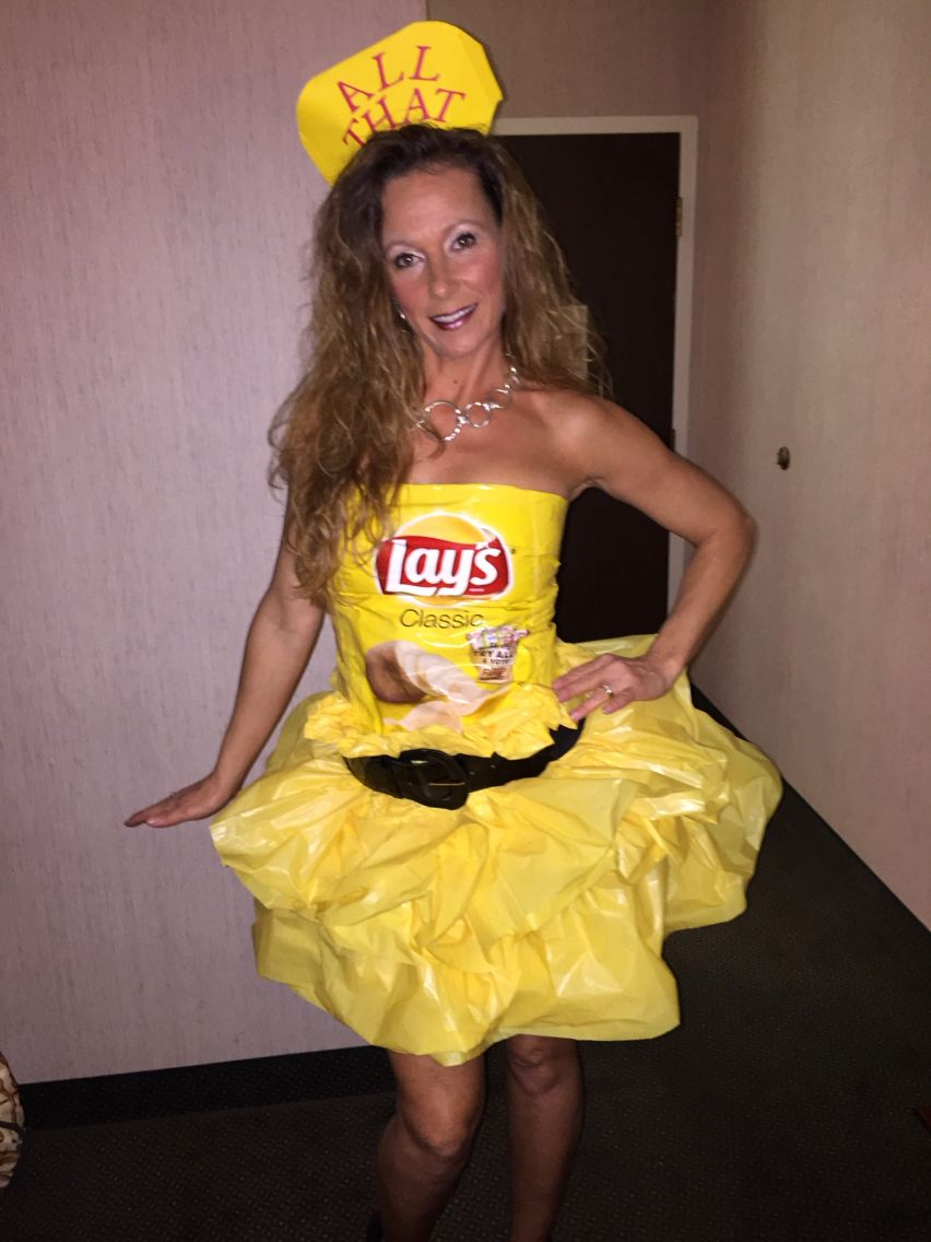 All that and a bag of chips! What a fun Halloween costume. I used ...