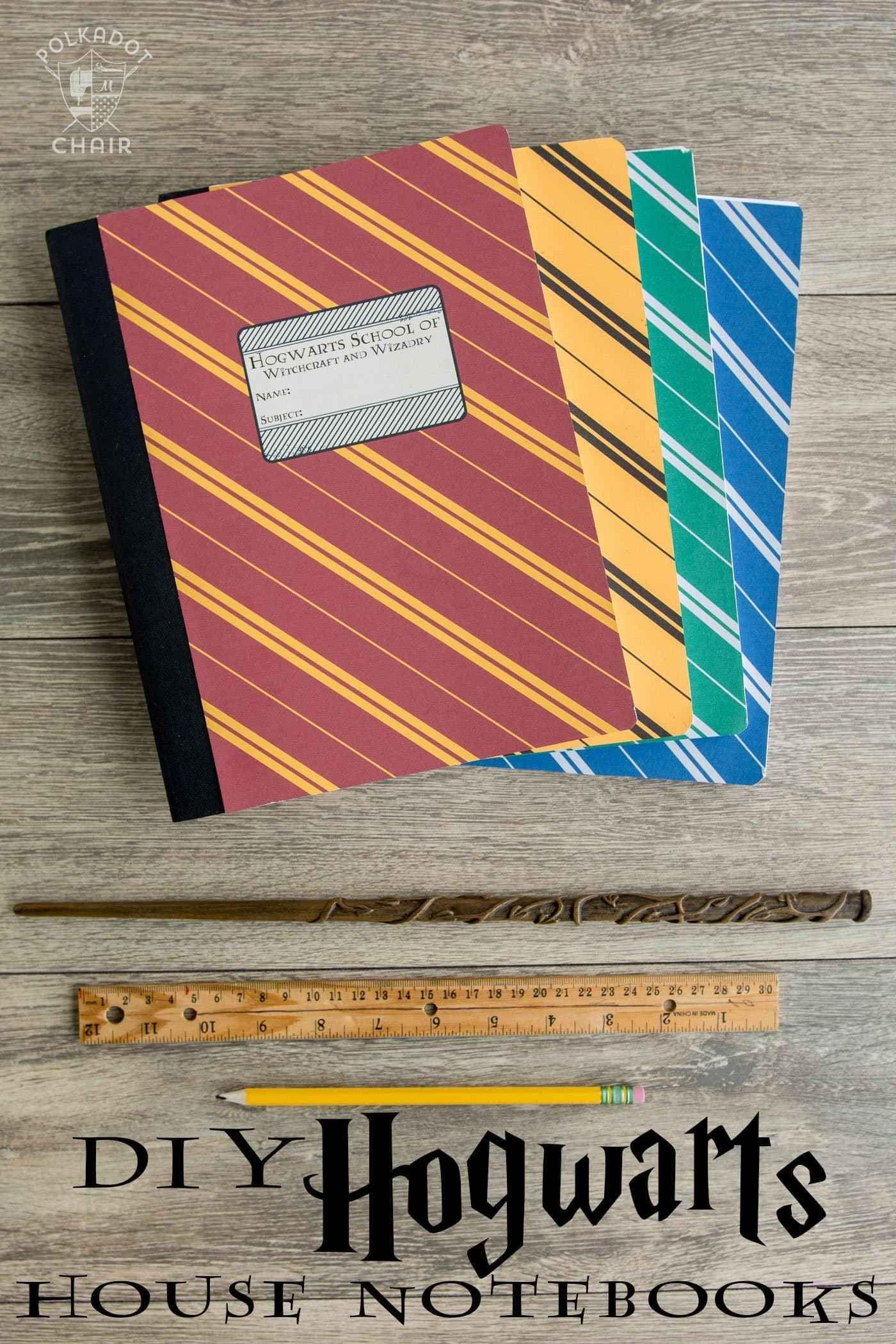 Photo of DIY Hogwarts Inspired Notebooks; a Harry Potter Craft Idea