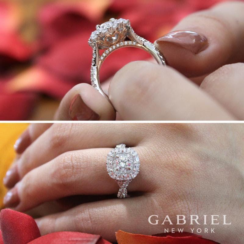 For her. #GabrielCoRetailer #GabrielNY #EngagementRing #Ring #FineJewelry #WhiteGold #Diamonds #TrueLove #BridetoBride #BrideToBe #GiftIdeas #RingGoals #Love #Sparkle #StambaughJewelers Ask for Style: ER13918R3T44JJ