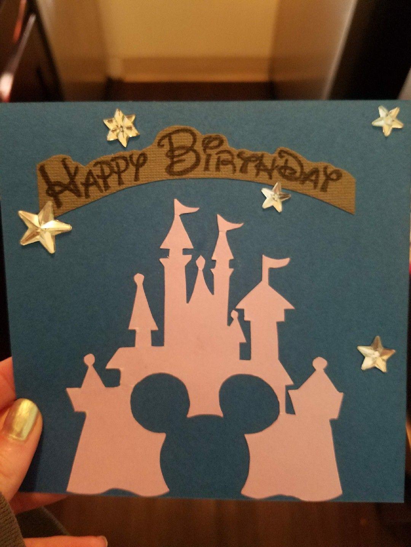Easy Disney Diy Handmade Birthday Card Birthday Cards Diy Handmade Birthday Cards Disney Birthday Card