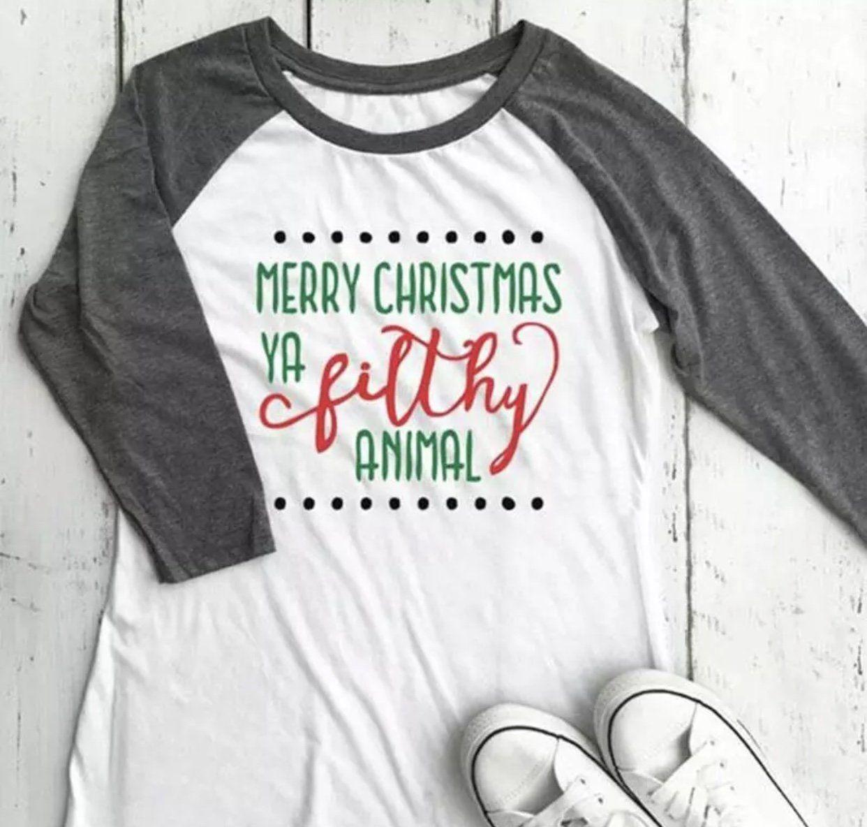 Merry christmas ya filthy animal shirt christmas holiday tee home