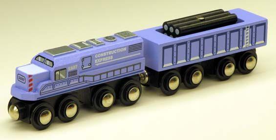 Circo Wooden Train Purple Diesel Engine Amp Cargo Car