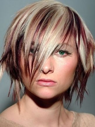 Edgy Hair Color Ideas Asymmetric Cut Hairstyles Ideas Moonlight