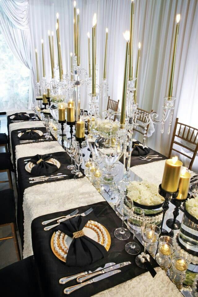 Elegant Black White Gold Theme