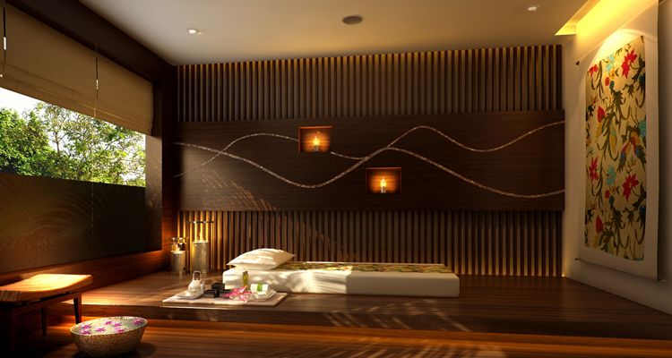 thai massage decorate interior design of asian style
