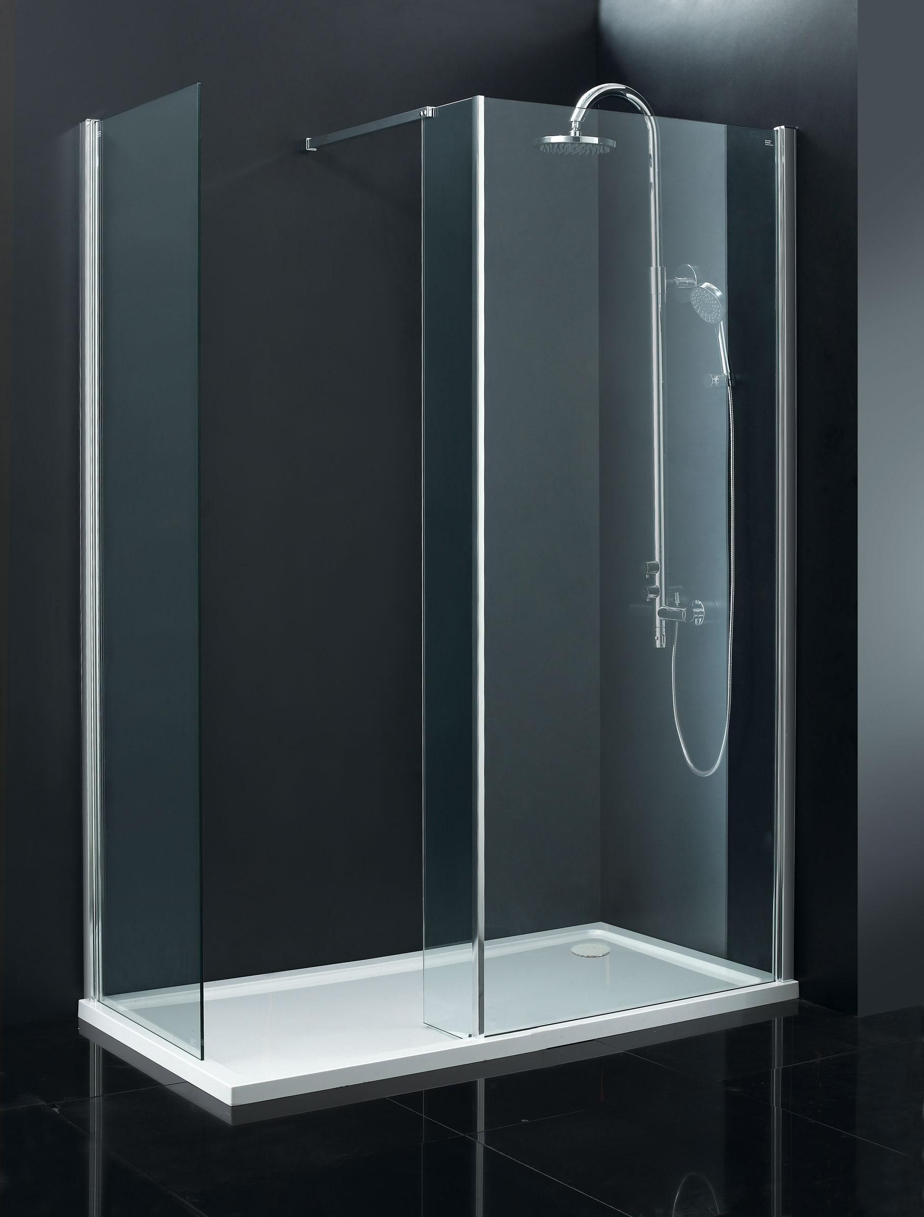 Indi 1700 x 760 8mm Walk in Shower Enclosure inc Tray and Waste ...