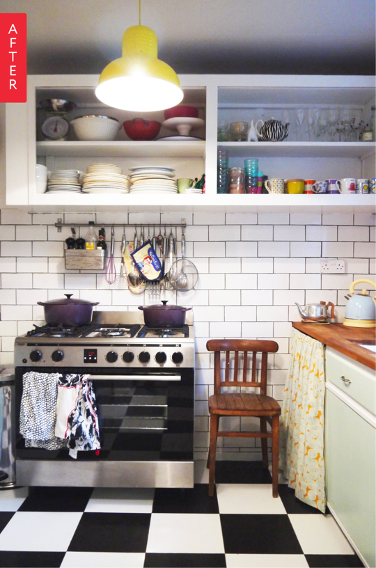 Best Before After 1950'S Kitchen Renovation Gets A Modern 400 x 300