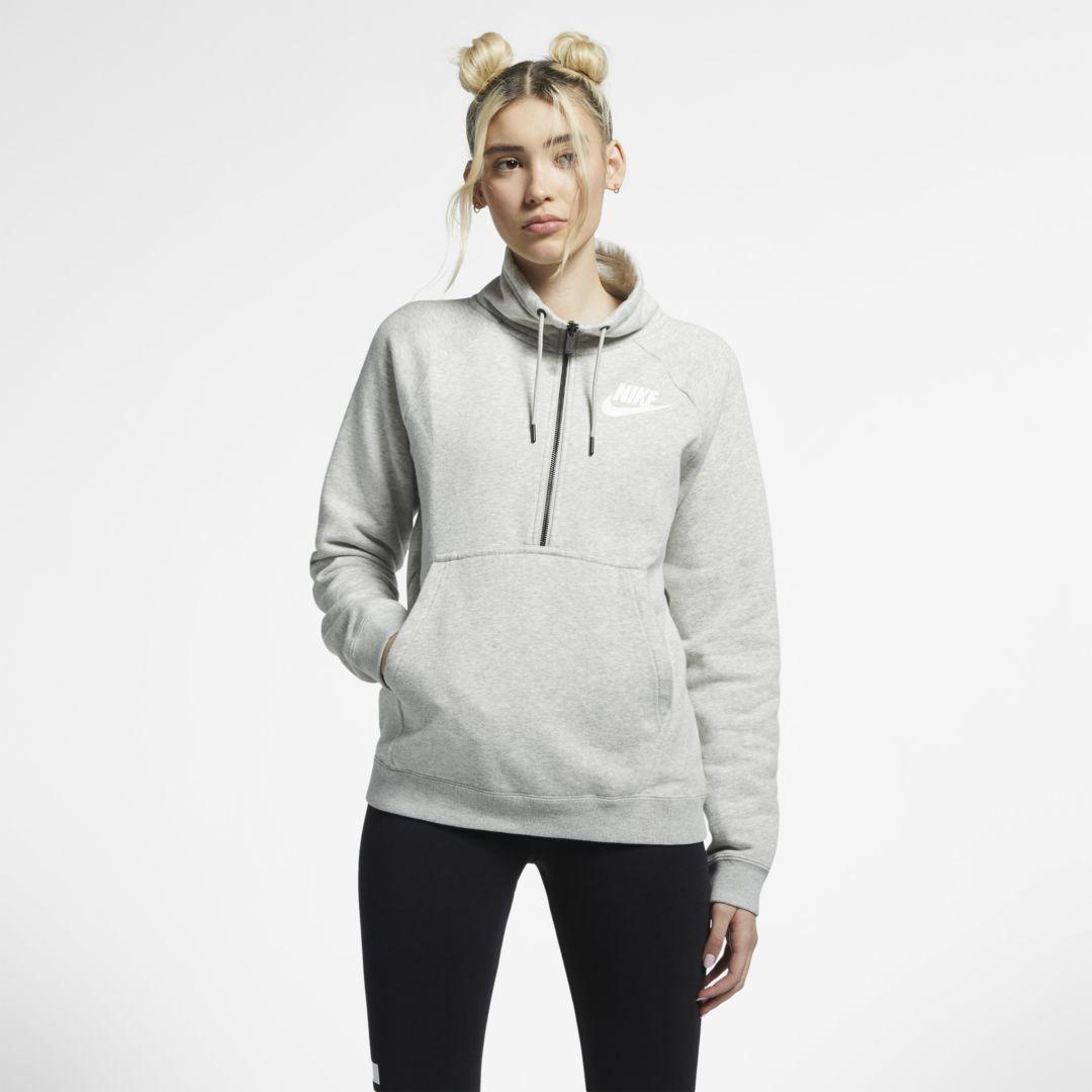 Nike Sportswear Rally Women's Long Sleeve 12 Zip Top Size