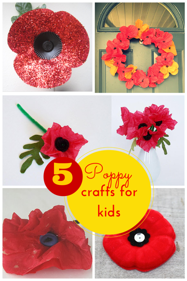 5 Fabulous Poppy Crafts For Remembrance Day Crafts Craft Ideas