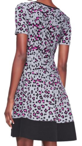 c0661c87faa Kate Spade New York Cyber Cheetah Sweater Dress in Big Smoke Sz XL Extra  Large