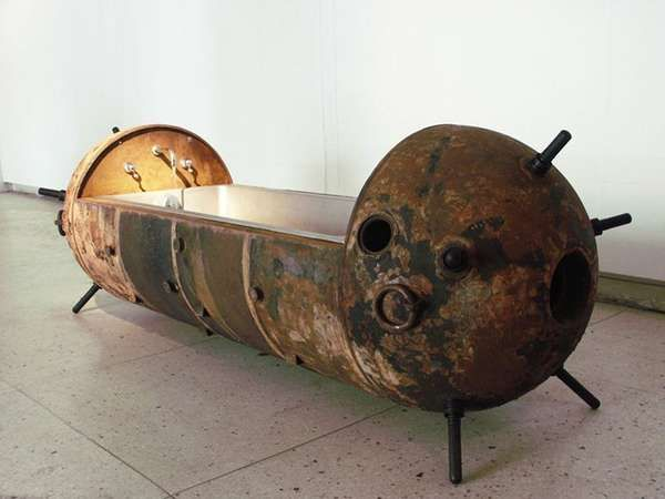 Steampunk Furniture Made With Pipes | Steampunk Furniture Made From Soviet  Mines