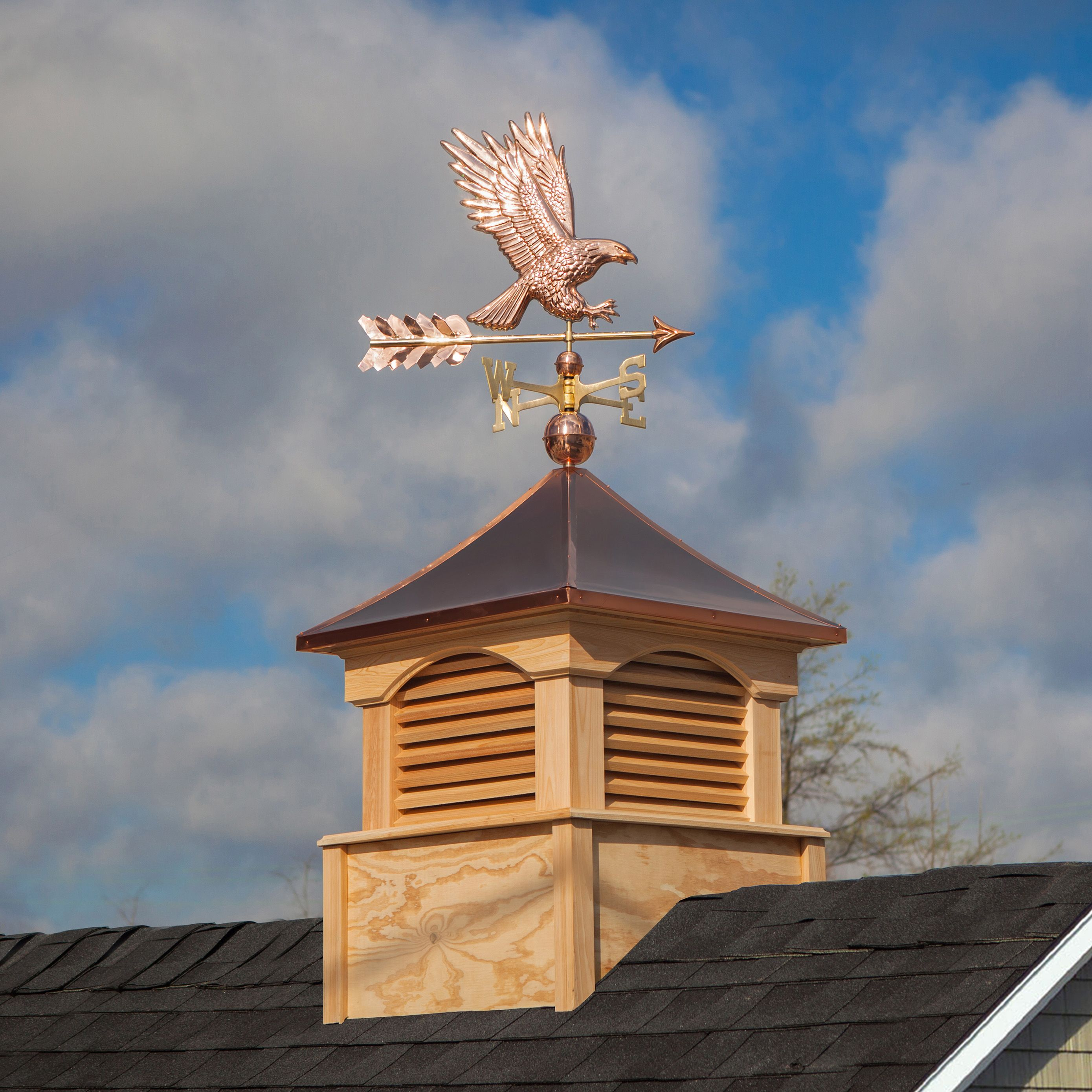 Buy Online Copper Weathervanes Roof Decorations Lawn Accents In 2020 Copper Roof Cupolas Bald Eagle