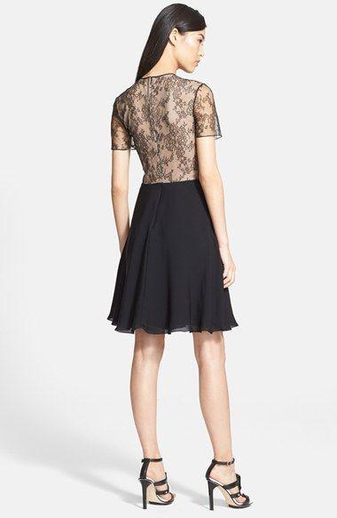 Jason Wu Floral Lace & Silk Georgette Dress | Nordstrom