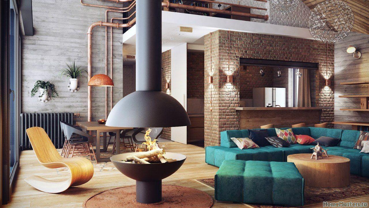 Гостинная лофт | Дизайн интерьера гостиной | Фотогалерея ремонта и дизайна | Школа ремонта. Ремонт своими руками