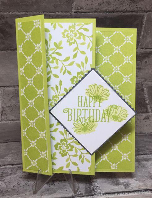 Fun Tri Fold Greeting Card Tri Fold Cards Fancy Fold Cards Greeting Card Template
