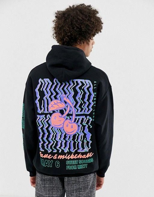 Best 6 Winter Streetwear Outfit Combinations: Crooked Tongues Oversized Hoodie With Cherry Rave Print