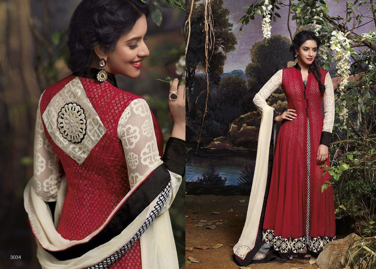 Anarkali Salwar Kameez style suit made with Georgette 3034
