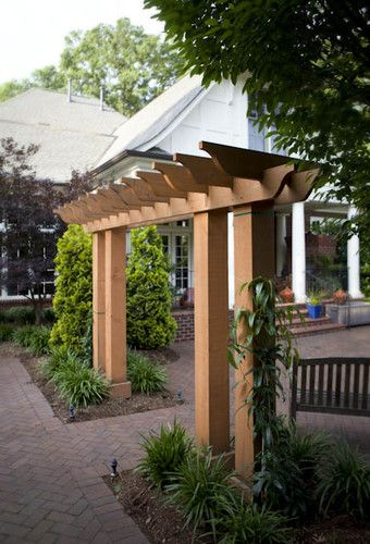 Gateway Arbor Trellis Edibles Potential Backyard Landscaping Backyard Pergola Backyard