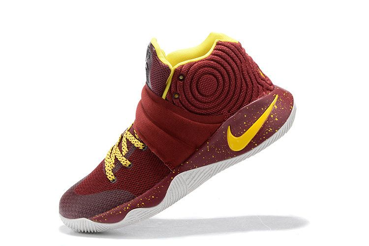 detailed look 15409 50bed Free Shipping Only 69  Kyrie 2 II New Cavs Away Burgundy Yellow