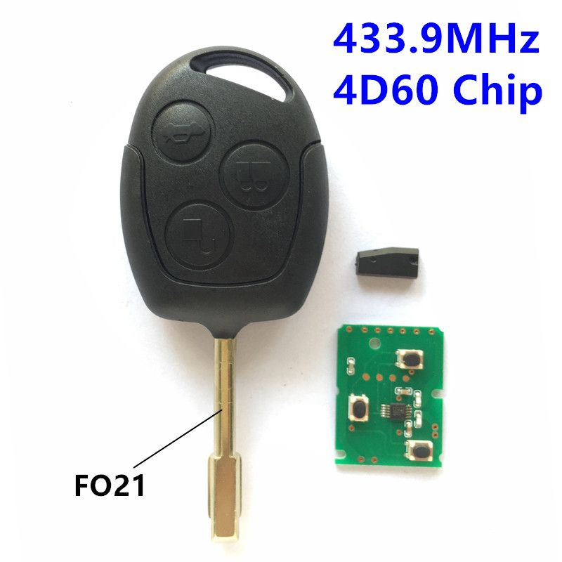 Remote Key For Ford Focus Fiesta Mondeo C Max S Max Ka Car Keyless Entry