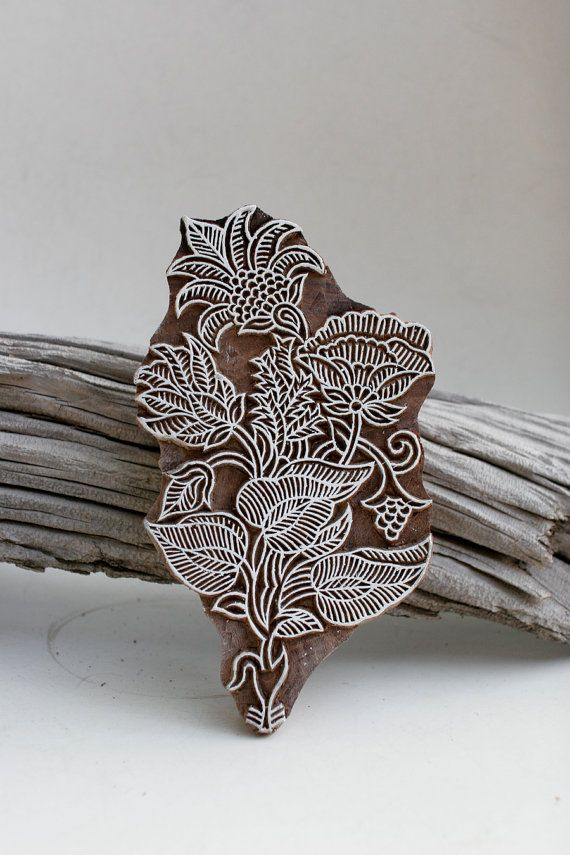 Stylized flowers and leaves creating a beautiful organic