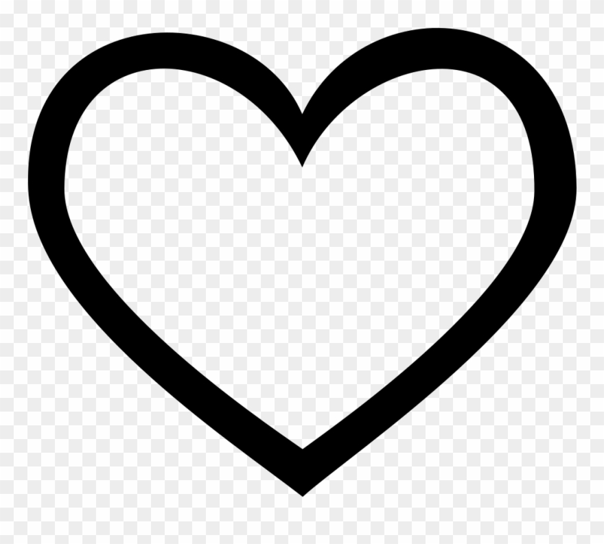 Download Hd Heart Png Line Clip Free Heart Icon Vector Transparent Png And Use The Free Clipart For Your Creative Project Heart Icons Heart Outline Icon