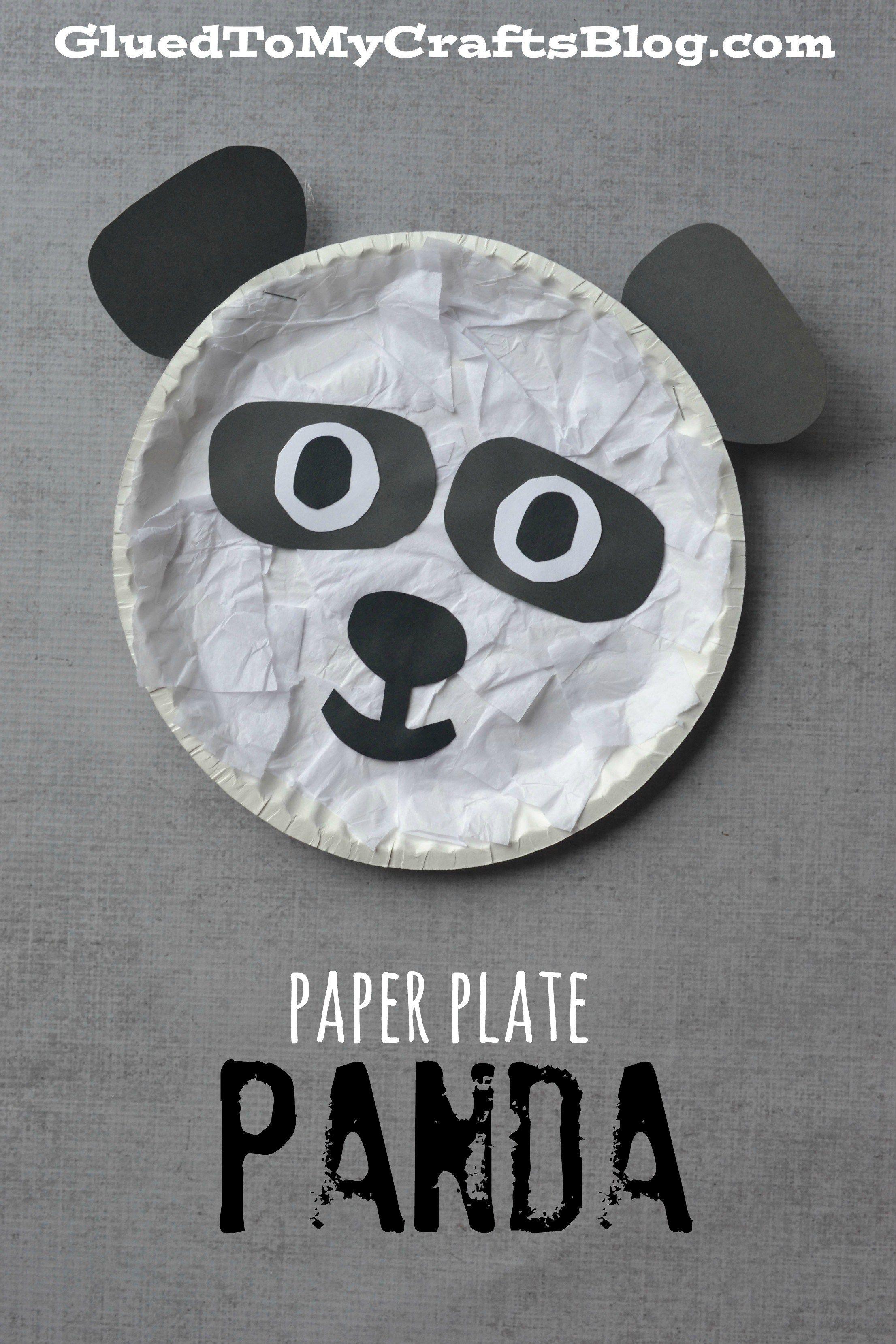 Paper Plate Panda Kid Craft & Paper Plate Panda Kid Craft | Panda Craft and Paper plate crafts