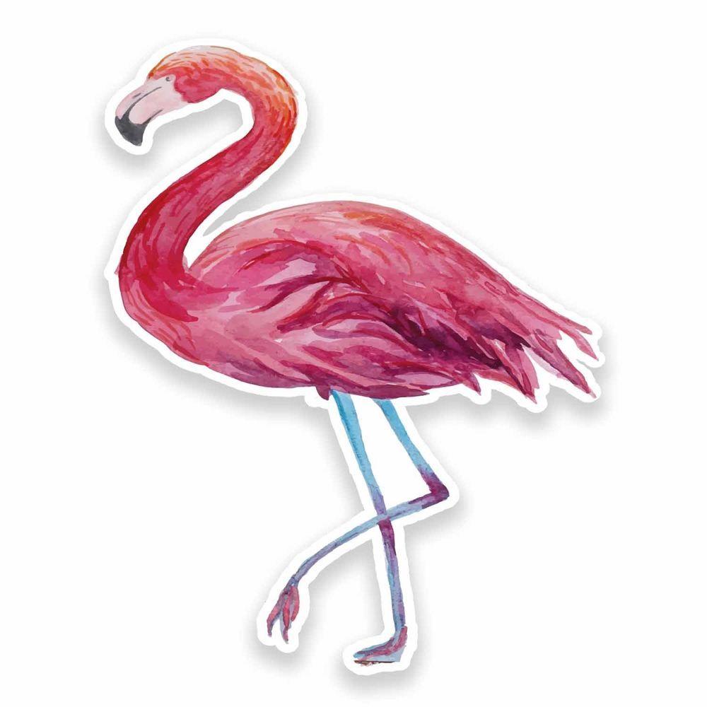5ba4c57305bb 2 x 10cm Pink Flamingo Vinyl Sticker Laptop Surf Snow Skate Bird Girls Fun  #9626