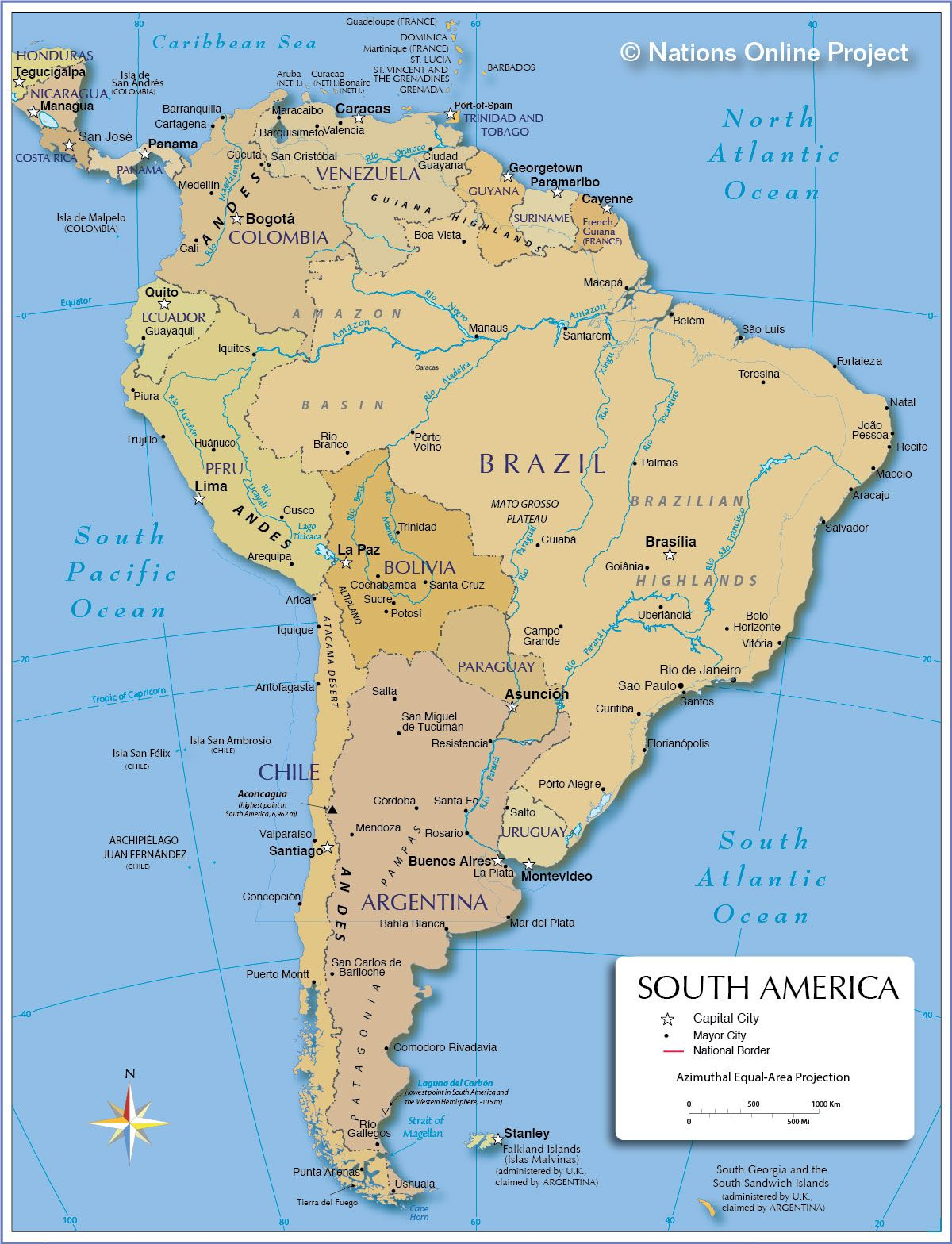 Politcal Map of South America Trend Forecasting Pinterest