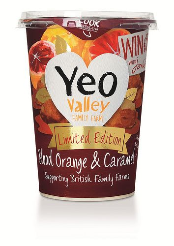 Yeo Valley Blood Orange & Caramel Limited Edition Yogurt