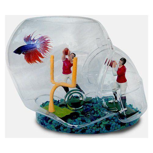 Have To Have It Sports Aquarium Football Helmet Fish Bowl