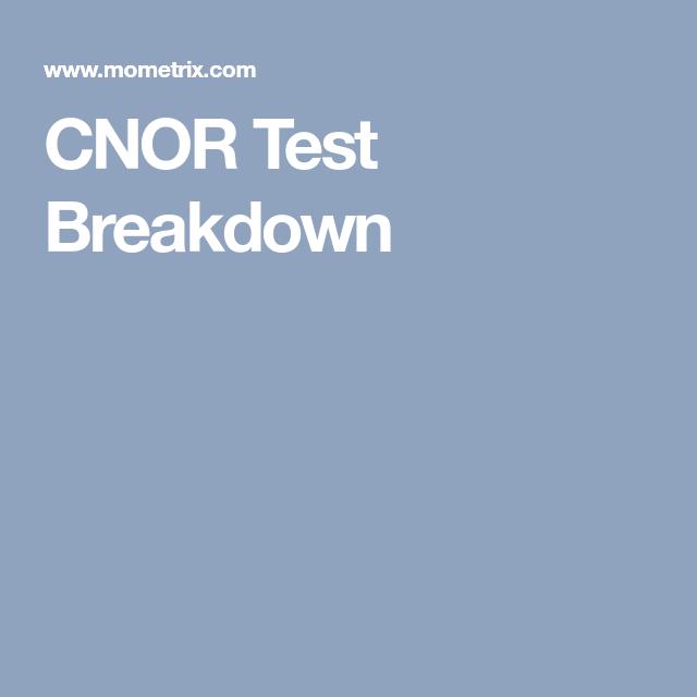 cnor mometrix certified