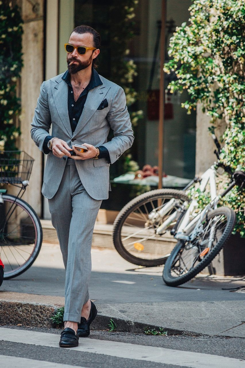 Uomo Street Primavera Men Style 2019Fashion Milano Moda Estate Qdshrt