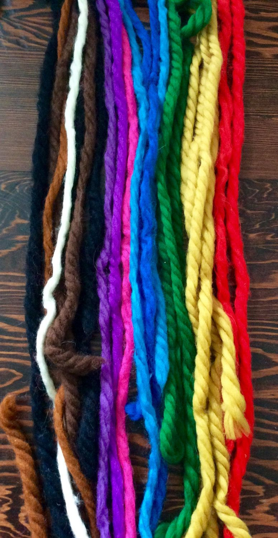 vintage 60s-70s hair yarn ponytail