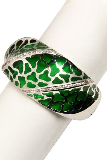 Jewelry by Saachi  Leopard Resin Hinged Bangle